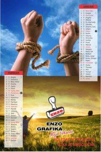 6 listni koledarji